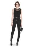 ALEXANDER WANG PLEATED SLEEVELESS TOP WITH NECKLACE CHAIN TRIM TOP Adult 8_n_f