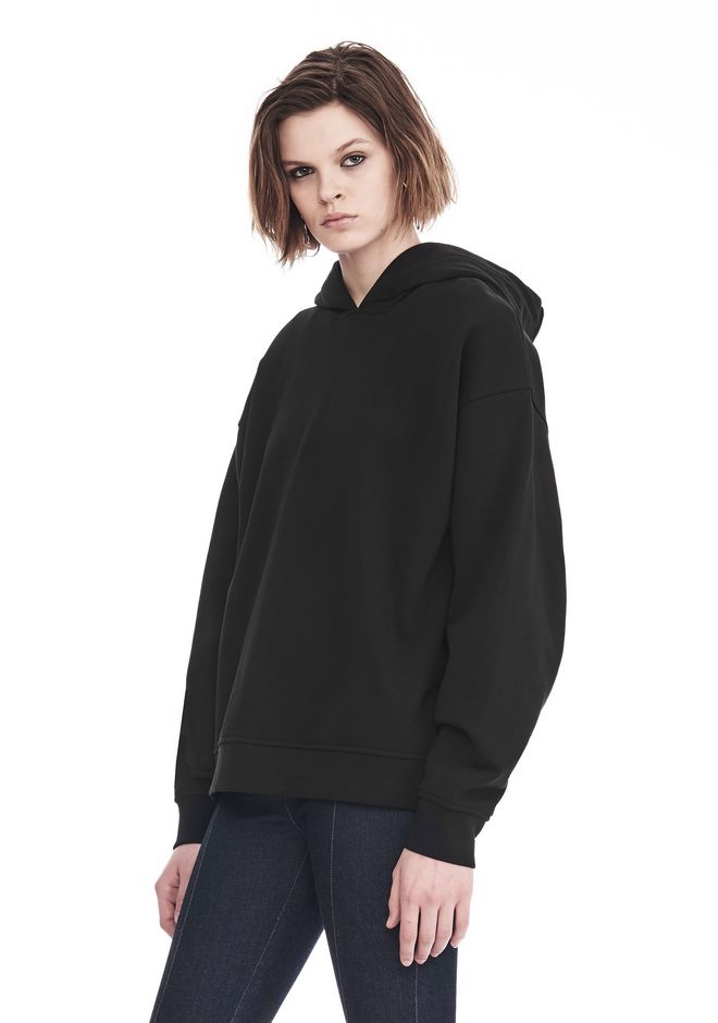 ALEXANDER WANG EXCLUSIVE OVERSIZED HOODIE WITH STRICT PATCH 上衣 Adult 12_n_a