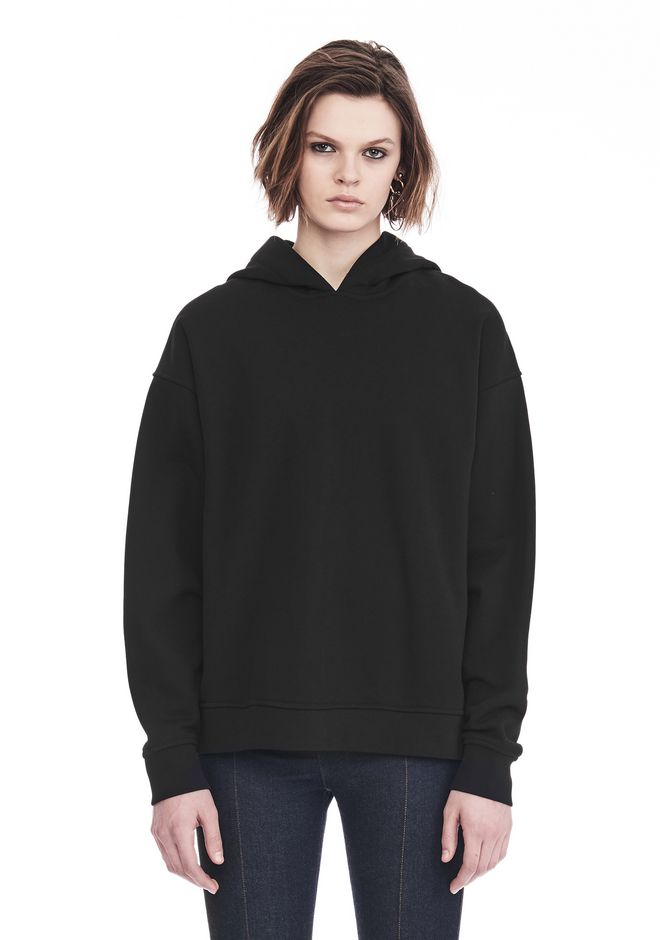 ALEXANDER WANG EXCLUSIVE OVERSIZED HOODIE WITH STRICT PATCH 上衣 Adult 12_n_d