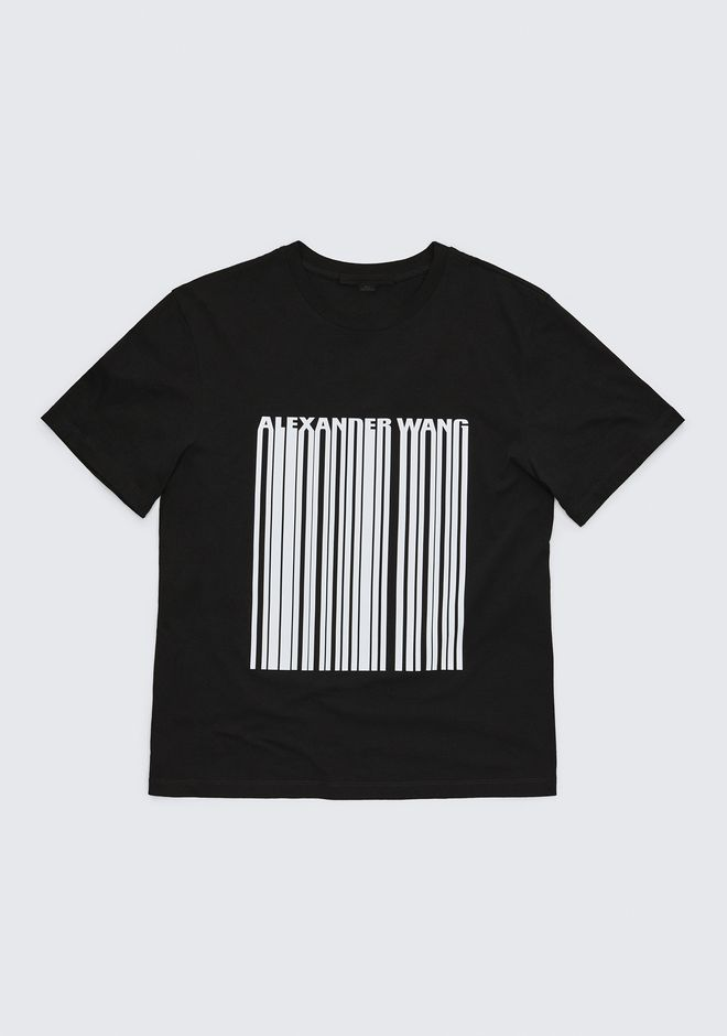 ALEXANDER WANG barcode EXCLUSIVE T-SHIRT WITH BONDED BARCODE