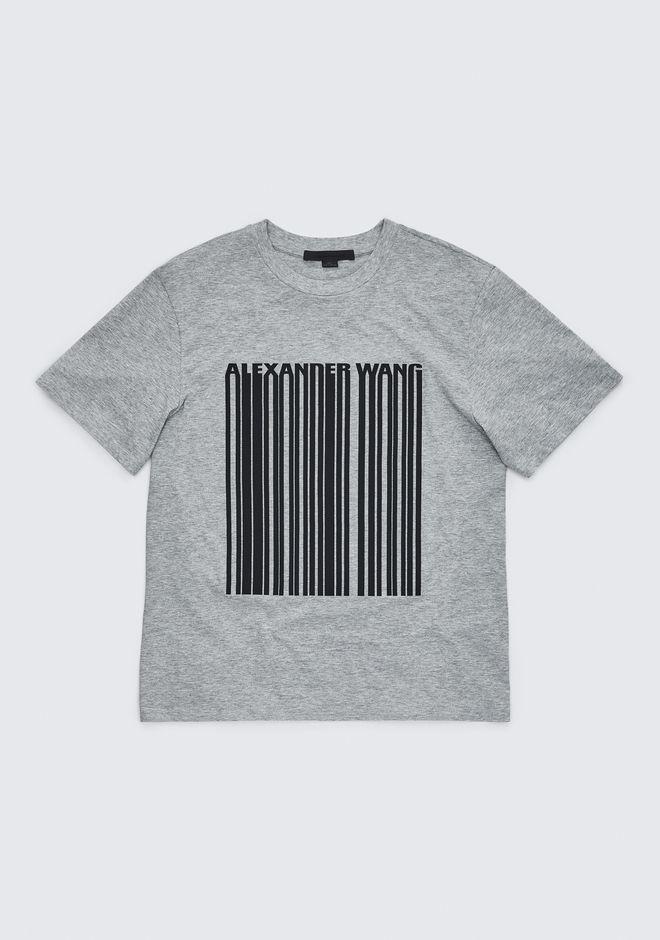 ALEXANDER WANG EXCLUSIVE T-SHIRT WITH BONDED BARCODE TOPS Adult 12_n_e