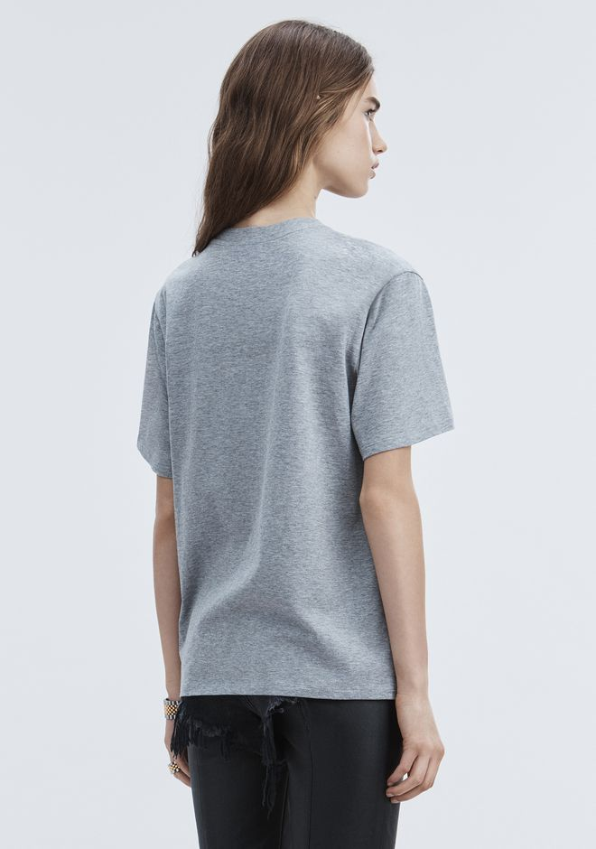 ALEXANDER WANG EXCLUSIVE T-SHIRT WITH BONDED BARCODE TOPS Adult 12_n_r