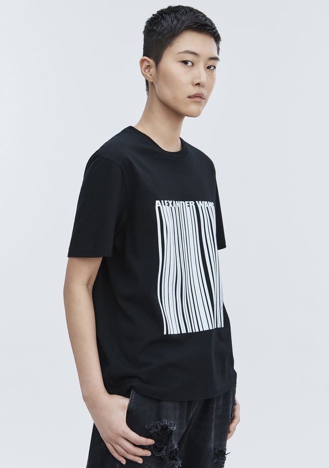 ALEXANDER WANG EXCLUSIVE T-SHIRT WITH BONDED BARCODE TOP Adult 12_n_d