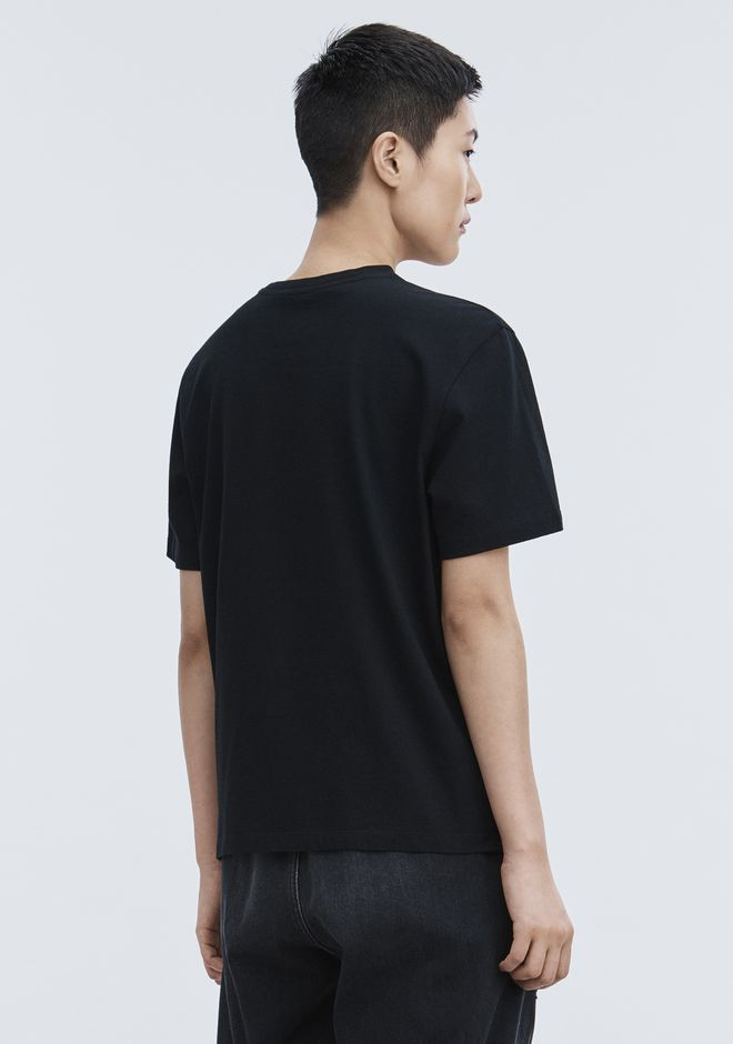 ALEXANDER WANG EXCLUSIVE T-SHIRT WITH BONDED BARCODE TOP Adult 12_n_r