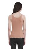 ALEXANDER WANG RIBBED TANK WITH RUFFLED BALL CHAIN HEM TOP Adult 8_n_d