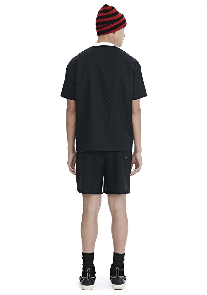 ALEXANDER WANG CHECKERBOARD WOOL JACQUARD SOCCER TEE TOP Adult 12_n_r
