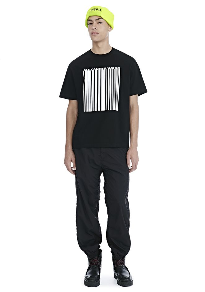 ALEXANDER WANG CLASSIC BARCODE SHORT SLEEVE TEE 上衣 Adult 12_n_f