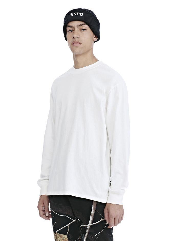 ALEXANDER WANG HIGH TWIST JERSEY LONG SLEEVE TEE TOP Adult 12_n_a