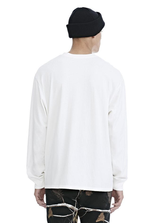 ALEXANDER WANG HIGH TWIST JERSEY LONG SLEEVE TEE 탑 Adult 12_n_d