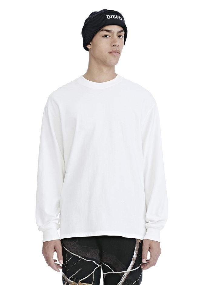 ALEXANDER WANG HIGH TWIST JERSEY LONG SLEEVE TEE TOP Adult 12_n_e