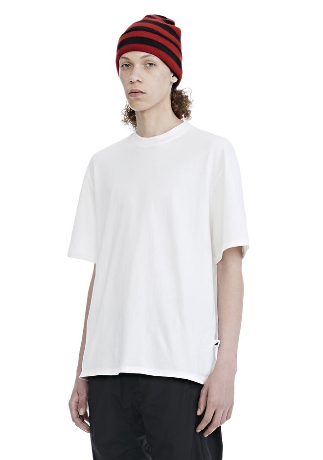 ALEXANDER WANG HIGH TWIST JERSEY SHORT SLEEVE TEE TOP Adult 12_n_a