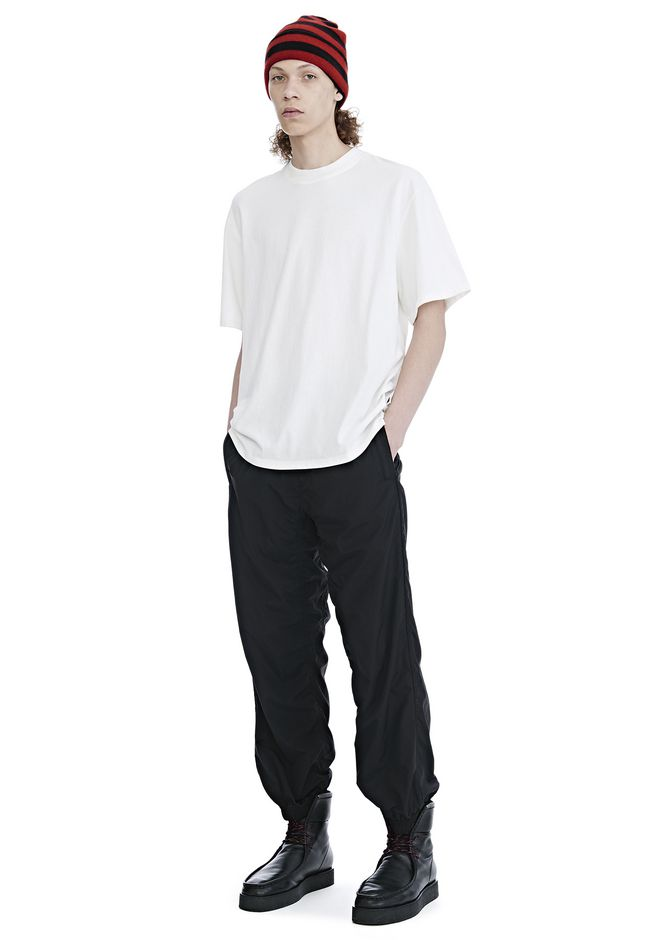 ALEXANDER WANG HIGH TWIST JERSEY SHORT SLEEVE TEE TOP Adult 12_n_f