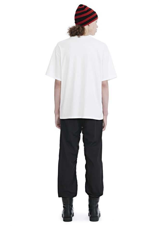 ALEXANDER WANG HIGH TWIST JERSEY SHORT SLEEVE TEE TOP Adult 12_n_r