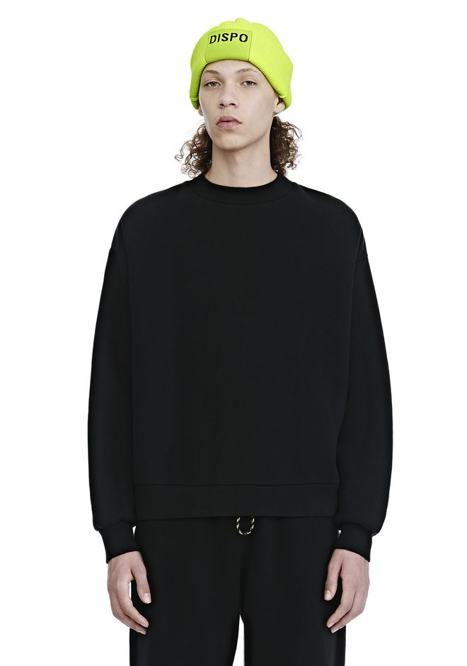 ALEXANDER WANG TOPS DENSE FLEECE CREWNECK SWEATSHIRT