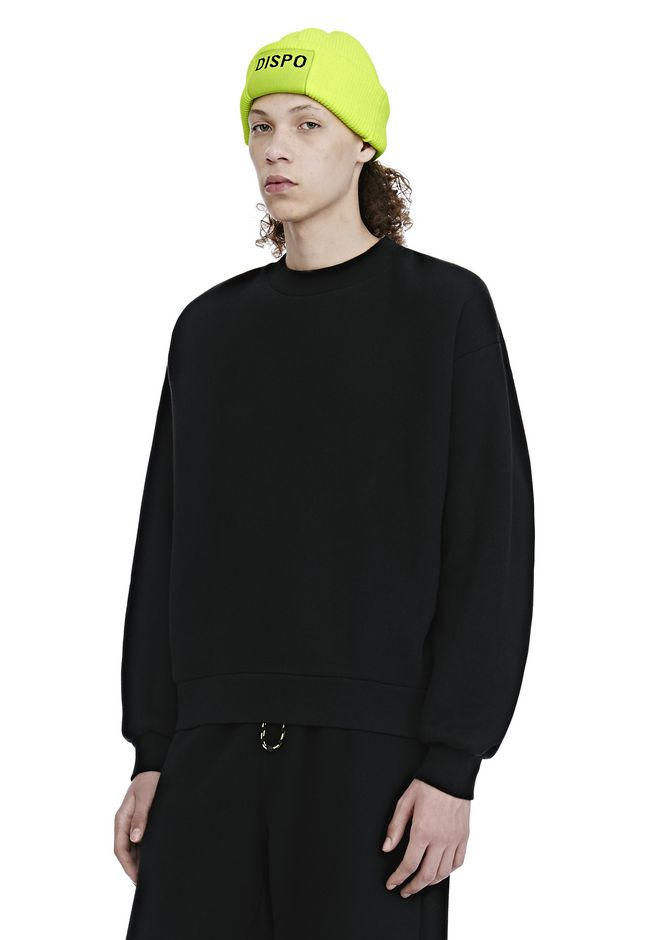 ALEXANDER WANG DENSE FLEECE CREWNECK SWEATSHIRT TOP Adult 12_n_a