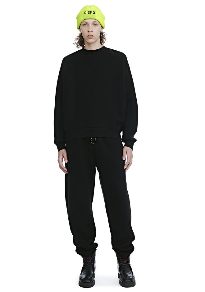ALEXANDER WANG DENSE FLEECE CREWNECK SWEATSHIRT TOP Adult 12_n_f
