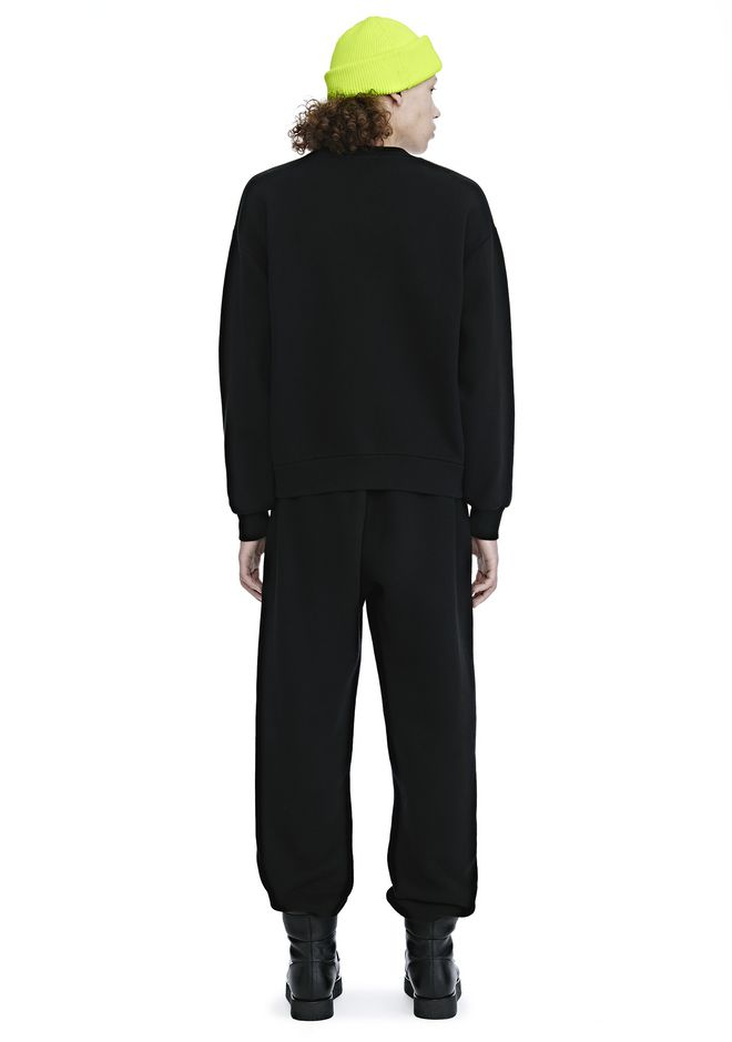 ALEXANDER WANG DENSE FLEECE CREWNECK SWEATSHIRT TOP Adult 12_n_r