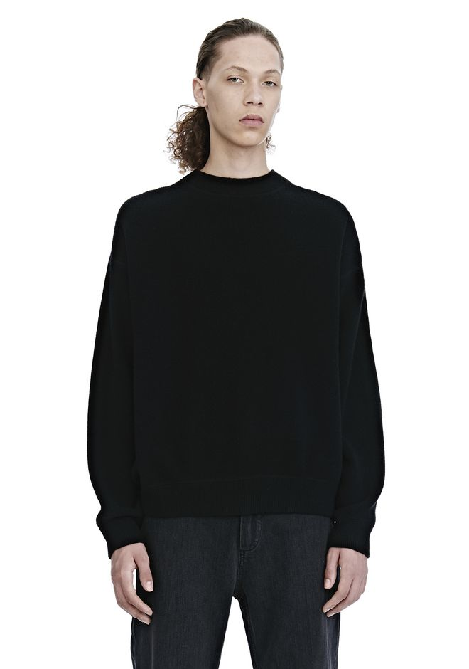 ALEXANDER WANG TOPS CREW NECK LONG SLEEVE PULLOVER