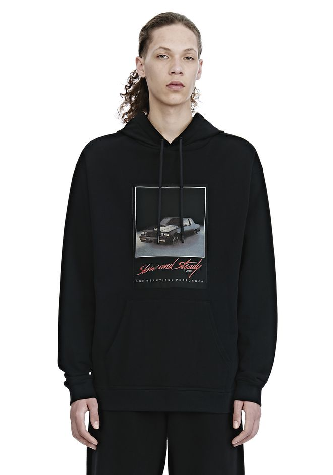 ALEXANDER WANG mens-new-apparel SLOW AND STEADY PATCH HOODIE