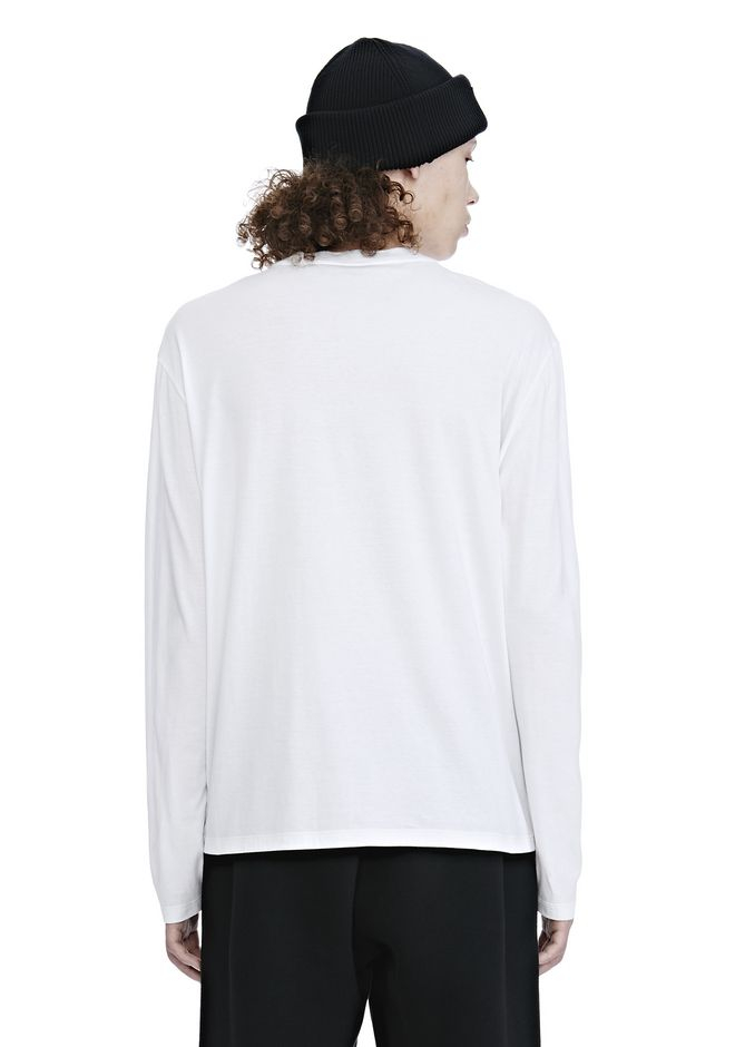 ALEXANDER WANG LONG SLEEVE BARCODE TEE TOP Adult 12_n_d