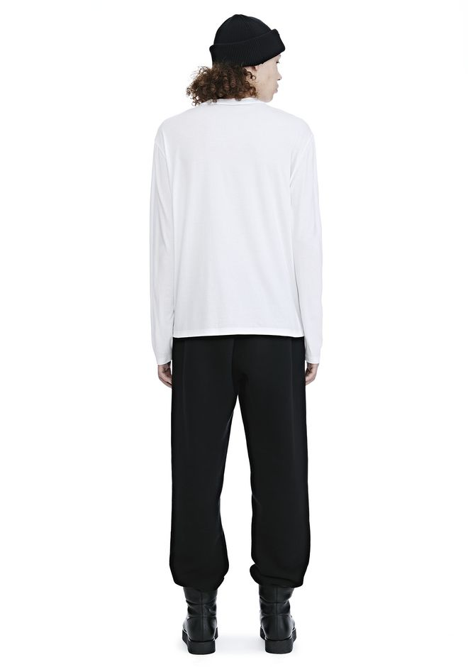 ALEXANDER WANG LONG SLEEVE BARCODE TEE TOP Adult 12_n_r