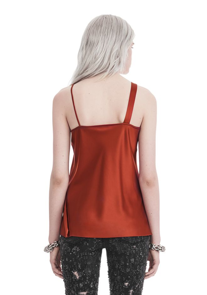 T by ALEXANDER WANG SLEEVELESS WRAP FRONT SATIN TANK 上衣 Adult 12_n_d