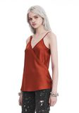 T by ALEXANDER WANG SLEEVELESS WRAP FRONT SATIN TANK 上衣 Adult 8_n_a