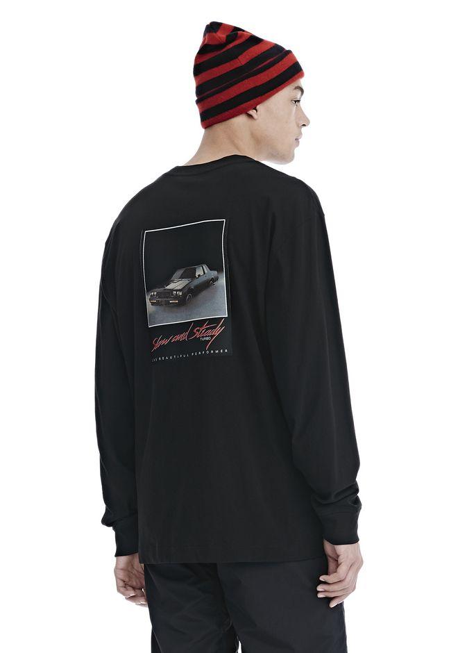 ALEXANDER WANG TOPS SLOW AND STEADY PATCH LONG SLEEVE TEE