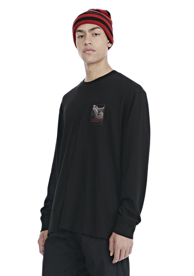 ALEXANDER WANG SLOW AND STEADY PATCH LONG SLEEVE TEE 上衣 Adult 12_n_a