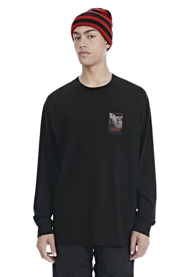 ALEXANDER WANG SLOW AND STEADY PATCH LONG SLEEVE TEE 上衣 Adult 12_n_d