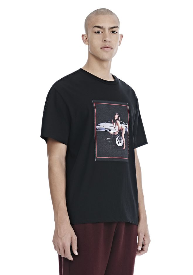 ALEXANDER WANG EXCLUSIVE CAR BABE WOVEN PATCH TEE TOP Adult 12_n_a