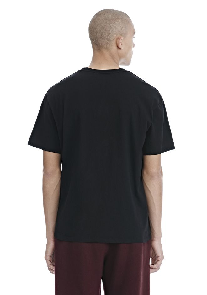 ALEXANDER WANG EXCLUSIVE CAR BABE WOVEN PATCH TEE TOP Adult 12_n_d