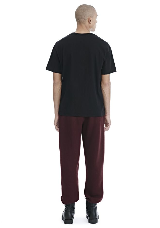 ALEXANDER WANG EXCLUSIVE CAR BABE WOVEN PATCH TEE TOP Adult 12_n_r