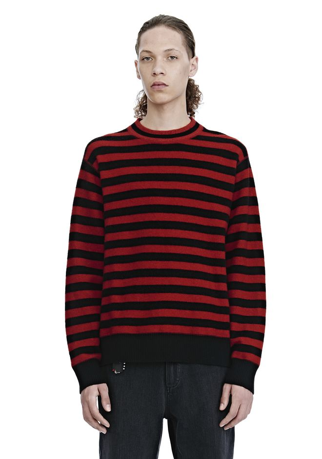 ALEXANDER WANG mens-new-apparel LONG SLEEVE STRIPED PULLOVER