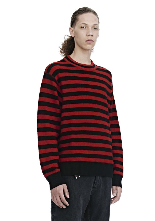 ALEXANDER WANG LONG SLEEVE STRIPED PULLOVER トップス Adult 12_n_a