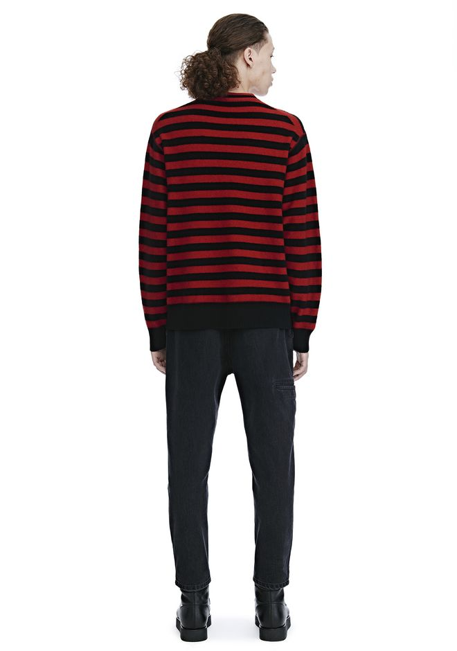 ALEXANDER WANG LONG SLEEVE STRIPED PULLOVER トップス Adult 12_n_r