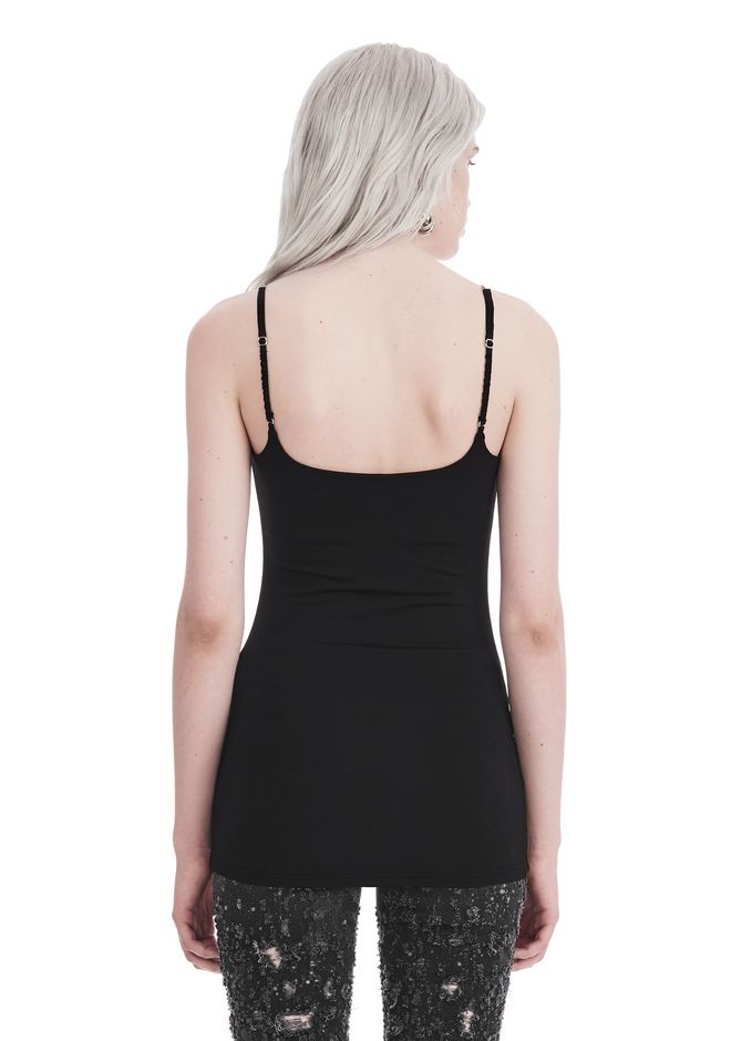 T by ALEXANDER WANG CAMISOLE WITH CHAIN STRAPS TOP Adult 12_n_d