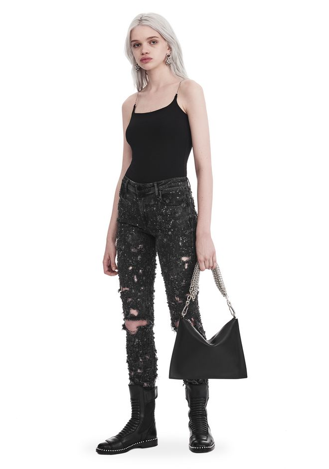 T by ALEXANDER WANG CAMISOLE WITH CHAIN STRAPS TOP Adult 12_n_f