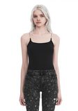 T by ALEXANDER WANG CAMISOLE WITH CHAIN STRAPS TOP Adult 8_n_e