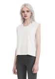 T by ALEXANDER WANG HIGH TWIST JERSEY MUSCLE TEE  TOP Adult 8_n_a