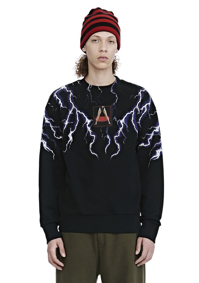 ALEXANDER WANG nouveautes LIGHTNING COLLAGE SWEATSHIRT