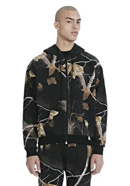 WINTER CAMO FLEECE ZIP UP HOODIE