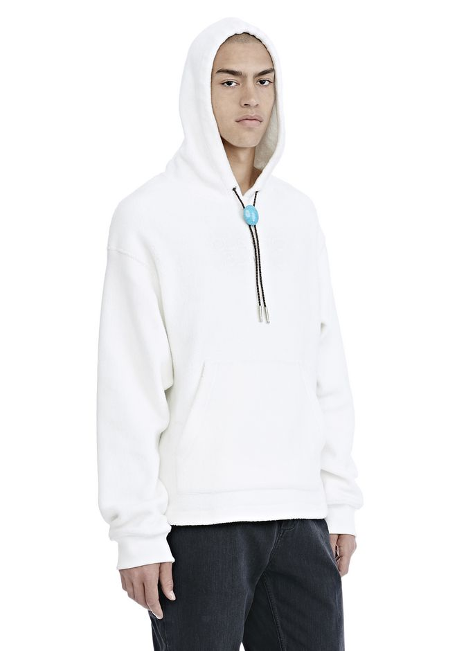 ALEXANDER WANG CLASSIC BLACK FLEECE HOODIE WITH BOLO TIE 후디 Adult 12_n_a