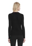 T by ALEXANDER WANG LONG SLEEVE TOP WITH ZIP HALF PLACKET TOP Adult 8_n_d
