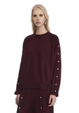 T by ALEXANDER WANG CREWNECK SWEATSHIRT WITH SNAPS TOP Adult 8_n_a