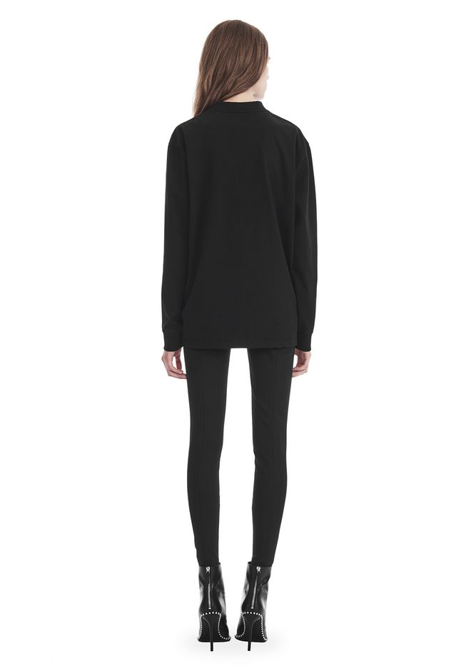 ALEXANDER WANG EXCLUSIVE LONG SLEEVE TEE WITH FLOCKING ARTWORK TOP Adult 12_n_r