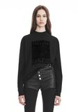 ALEXANDER WANG EXCLUSIVE LONG SLEEVE TEE WITH FLOCKING ARTWORK TOPS Adult 8_n_e