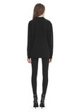 ALEXANDER WANG EXCLUSIVE LONG SLEEVE TEE WITH FLOCKING ARTWORK TOP Adult 8_n_r