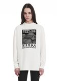 ALEXANDER WANG EXCLUSIVE LONG SLEEVE TEE WITH FLOCKING ARTWORK TOP Adult 8_n_a