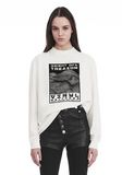 ALEXANDER WANG EXCLUSIVE LONG SLEEVE TEE WITH FLOCKING ARTWORK TOP Adult 8_n_e